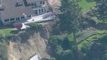 Raw: Homes Threatened by Washington Landslide