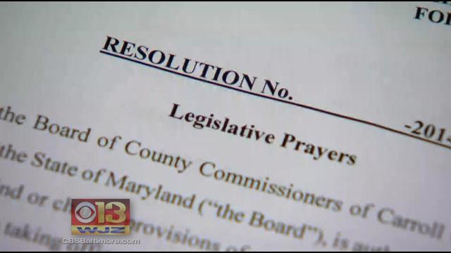 Carroll County Will Comply With Judge's Prayer Order