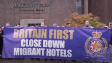 Far-right Britain First activists branded 'disgusting' for raiding hotel housing migrants