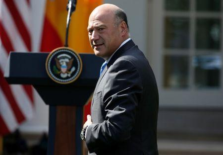 Director of the National Economic Council Gary Cohn arrives before a joint news conference of U.S. President Donald Trump and Spanish Prime Minister Mariano Rajoy at the White House in Washington, U.S., September 26, 2017. REUTERS/Joshua Roberts