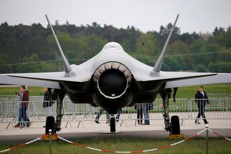 FILE PHOTO: A Lockheed Martin F-35 aircraft is seen at the ILA Air Show in Berlin