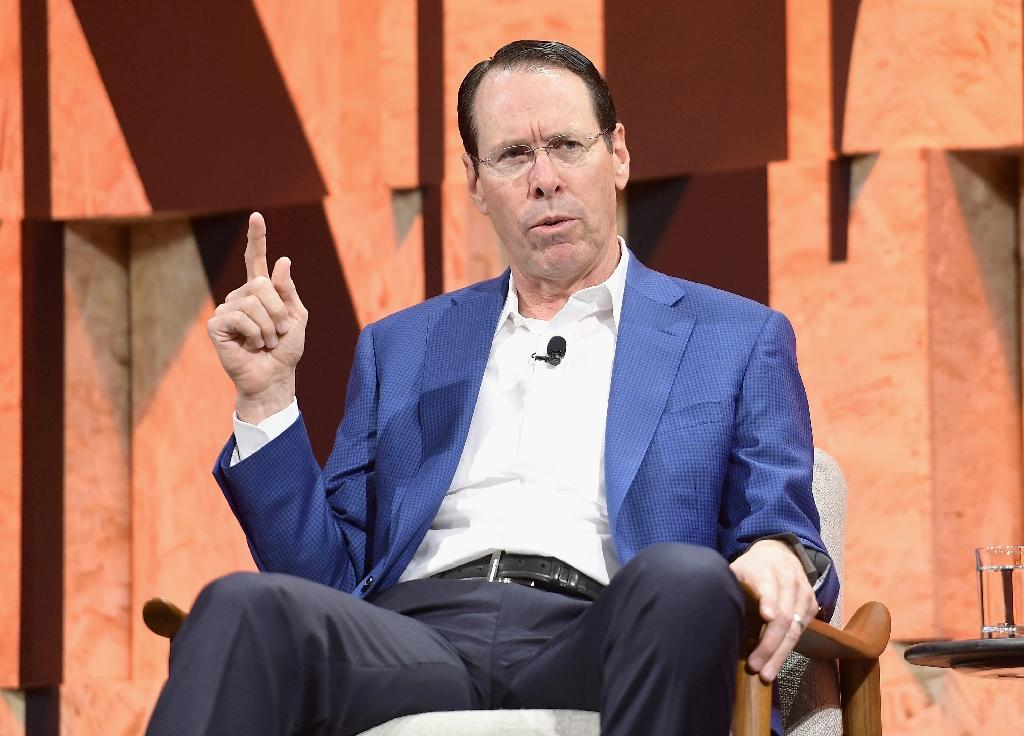 Chairman and CEO of AT&T Randall Stephenson speaks onstage during a Vanity Fair event in Beverly Hills, California, in October 2017 (AFP Photo/Matt Winkelmeyer)