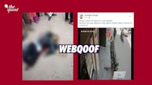 UP Scribe Killed for Speaking About Kumbh? No, Video is Unrelated