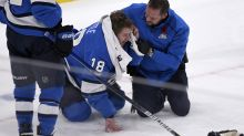Jets' Bryan Little gets 25-plus stitches after taking puck to head