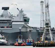 UK's new aircraft carrier sets sail for first time