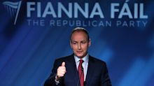 Fianna Fail leader urges caution as poll puts party 12 points clear