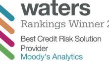 Moody's Analytics Ganha como Melhor Provedor de Soluções de Risco de Crédito na Waters Rankings