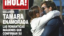 Tamara Falcó e Íñigo Onieva: beso con mascarilla para la portada de una revista, paseo sin mascarilla después