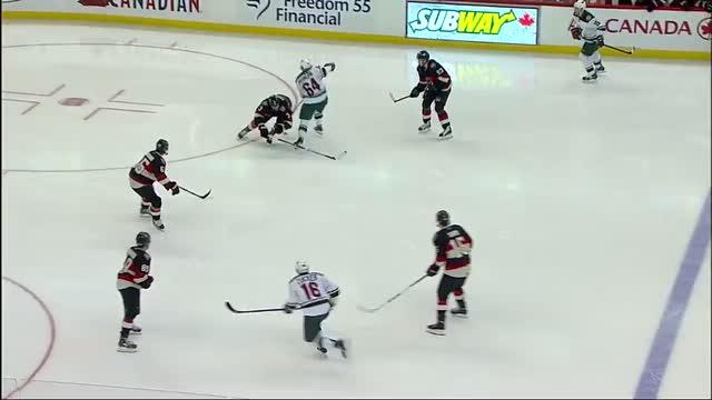 Marc Methot crushes Granlund with hip-check