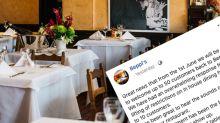 Restaurant blasts customers for 'disgraceful behaviour'