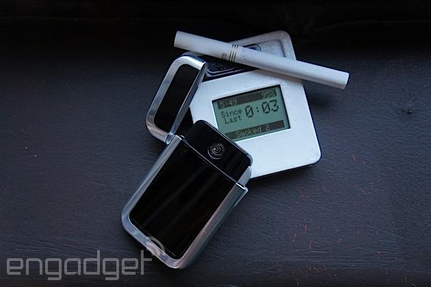 Lighter tracks your smoking habits to shame you to quit