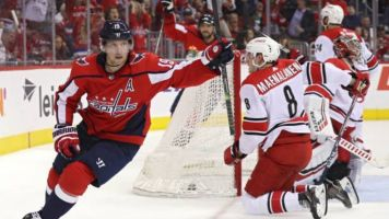 Caps send message with 6-0 rout of Canes