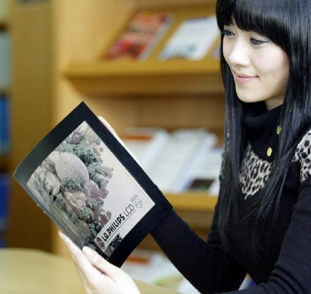 LG.Philips announces 14.3-inch flexible e-paper display for CES