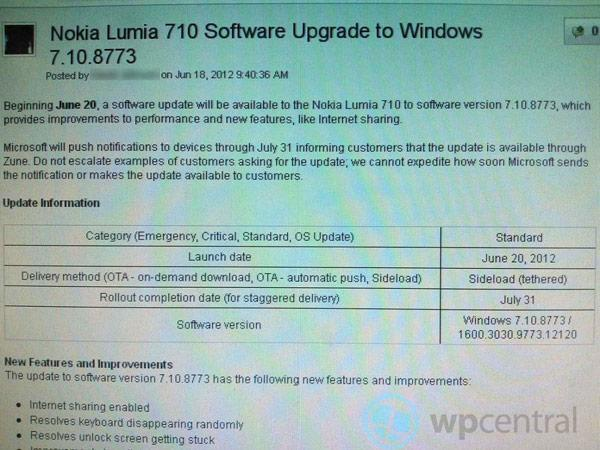 Nokia Lumia 710 phones on T-Mobile USA should learn to Tango on June 20th