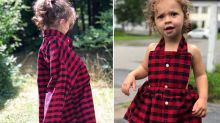 This mum took her husband's shirt he wore the day their daughter was born and made a dress