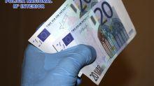 El número de billetes falsos sube un 17,6 % en el segundo semestre de 2019