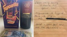 Woman's touching act after car park bingle