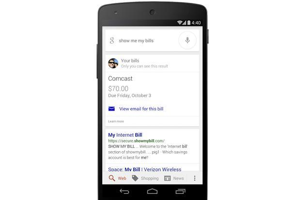 Google's search app now reminds you to pay your bills