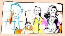 'Ele pediu que o adotássemos se desenhando na nossa foto de família'