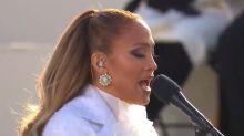 El gesto más aplaudido de Jennifer Lopez en la toma de posesión de Joe Biden