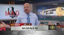 Cramer's lightning round: I see Walmart's stock going hig...