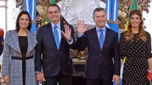 Centolla fueguina, bife de lomo y vino malbec, el menú con el que Macri agasajó a Bolsonaro