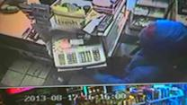 Caught on cam: Deli owner foils robbery