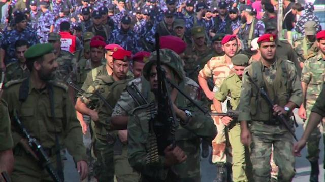 Military parade in Gaza one year after war with Israel