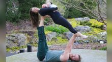 Mom's Maternity Acroyoga Is out of This World