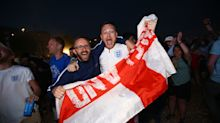 Finally! England fans erupt in joy as Three Lions win first EVER World Cup penalty shootout