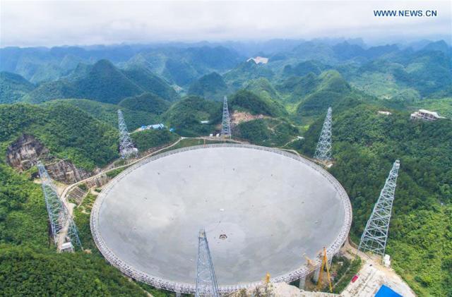 China finished the world's largest single-aperture telescope