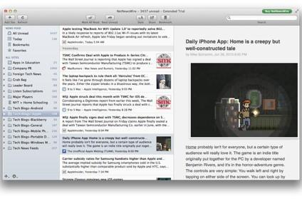 RSS Reader Roundup: NetNewsWire 4 polishes its desktop app, but misses on mobile