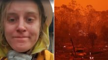Volunteer firie recalls 'tornadoes of fire' that almost wiped out her family
