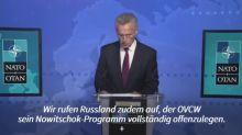 Nato verlangt von Russland Offenlegung von Nowitschok-Programm