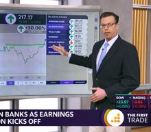 MARKETS: Goldman breaking out after earnings; J&J drops
