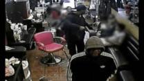 RAW VIDEO: Brazen hair salon robbery