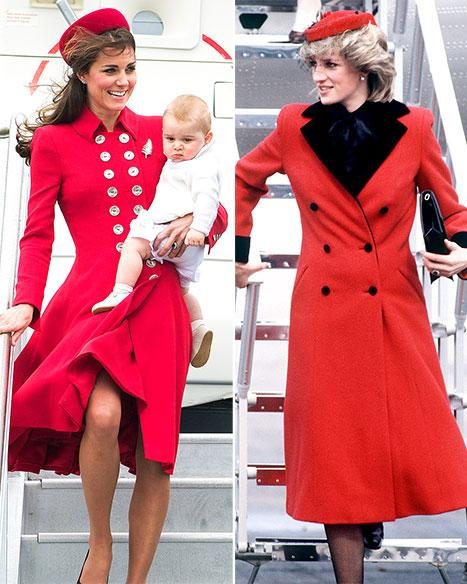 Kate Middleton's Red Coat Echoes Princess Diana's Style ...