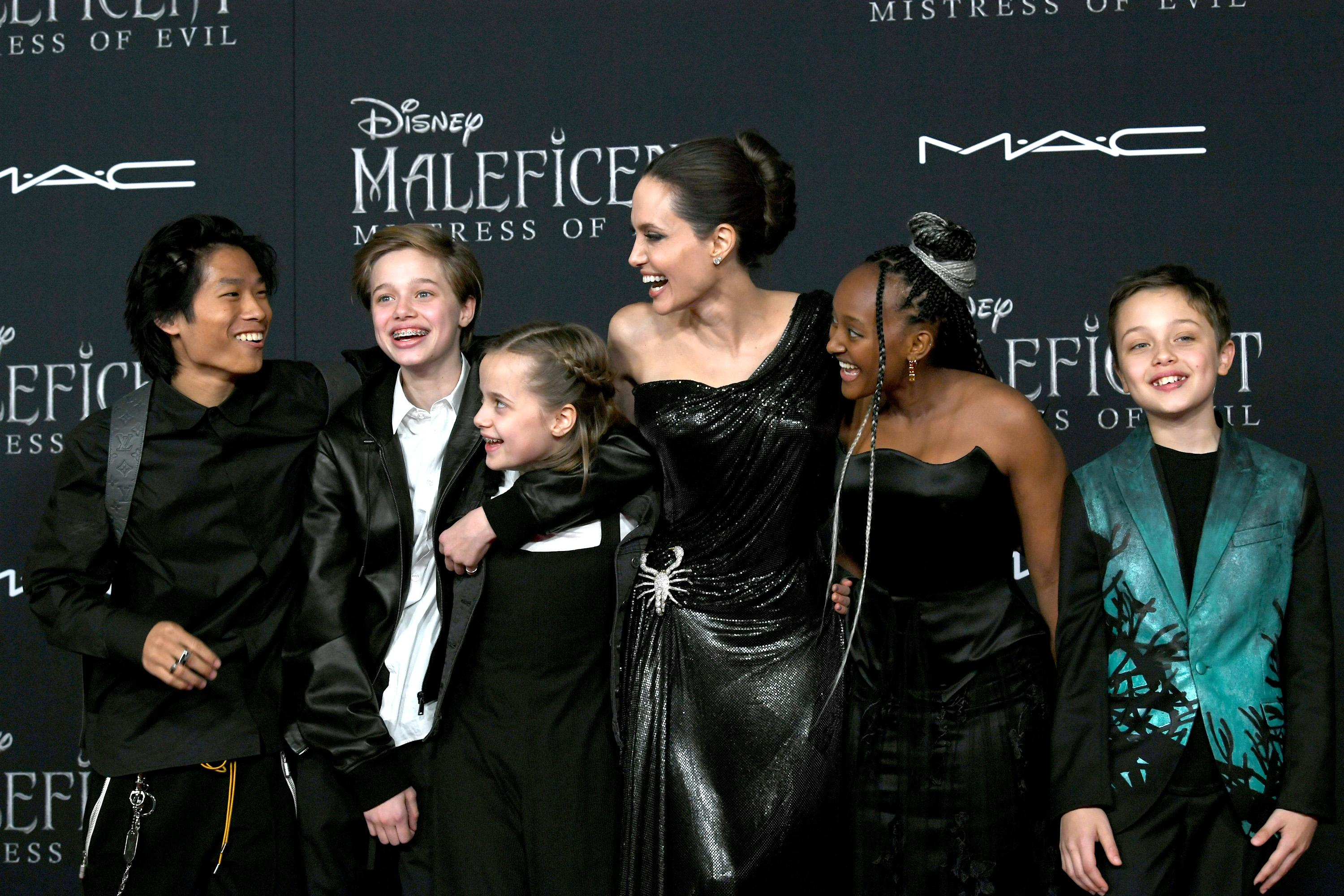 Angelina Jolie S Kids Steal The Show At Maleficent Mistress