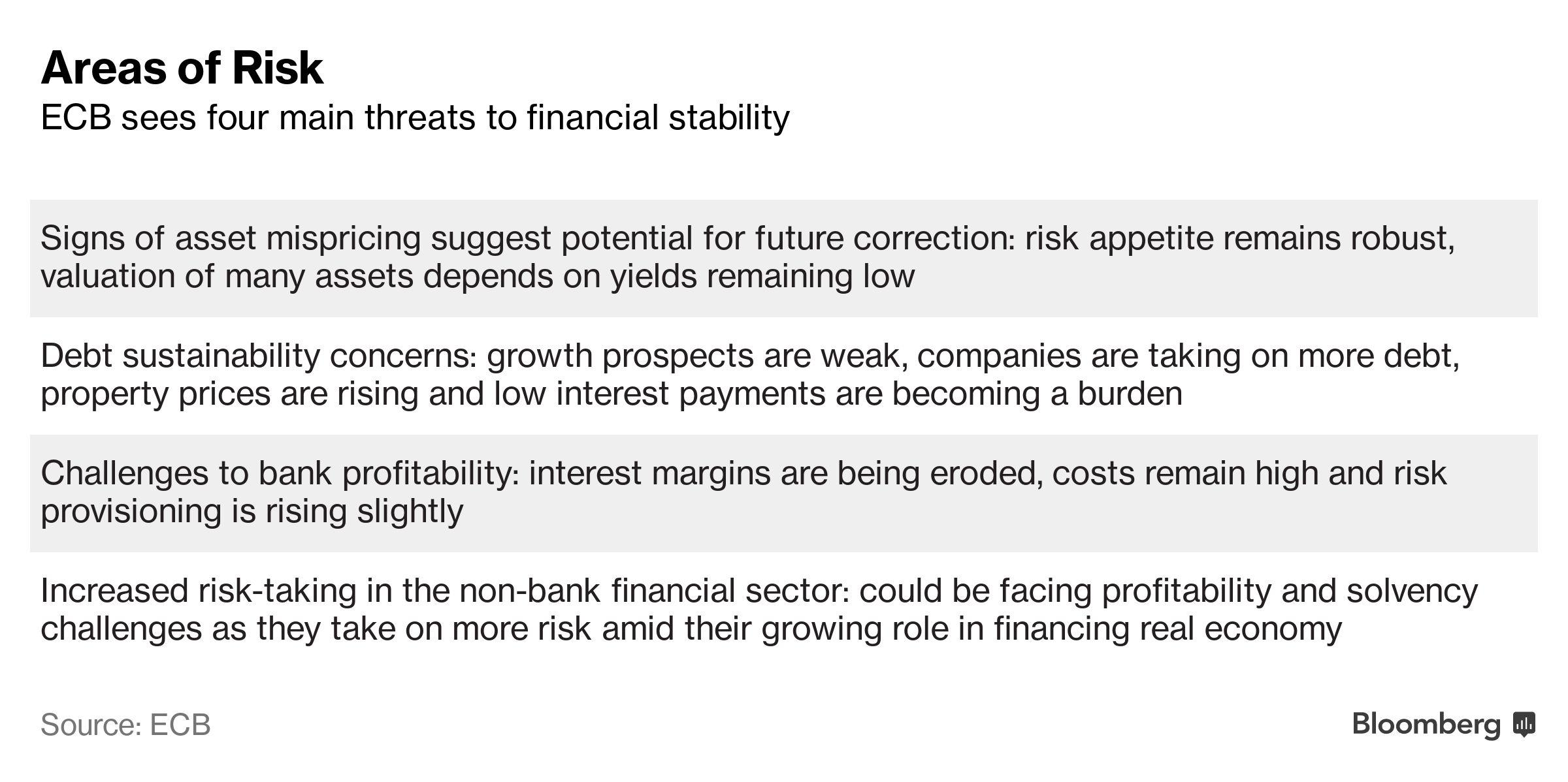 ECB Flags Risks to Financial Stability From Its Own Stimulus