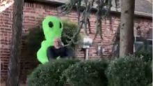 Halloween prank: Oklahoma dad freaks out daughter with outrageous Area 51 costume