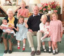 Royal family release unseen pictures of Duke of Edinburgh surrounded by great-grandchildren