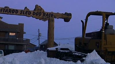 Nome Prepares Iditarod Sled Dog Race Finish