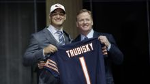 Bears fans were not happy with the pick of Mitchell Trubisky at No. 2