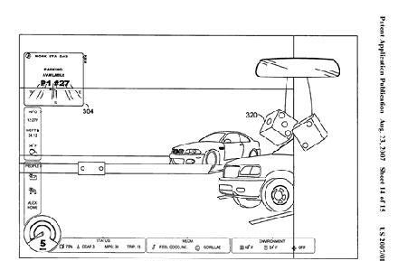 Microsoft patent app reveals heads-up vehicle display, fluffy dice