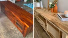Mum saves a fortune with epic Bunnings TV unit transformation