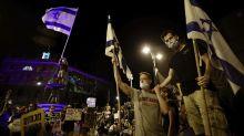 Thousands of Israelis protest outside Netanyahu's residence