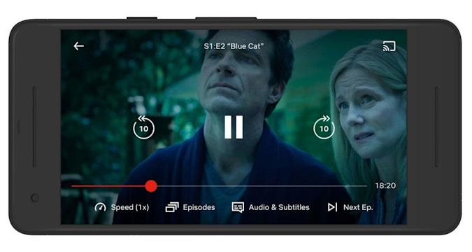 Netflix variable playback speed