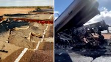 Pictures show 'horrifying aftermath' of deadly road accident