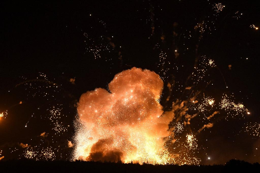 "Ukrainian Prime Minister Volodymyr Groysman said the fire was ""no accident"" (AFP Photo/Sergei SUPINSKY)"