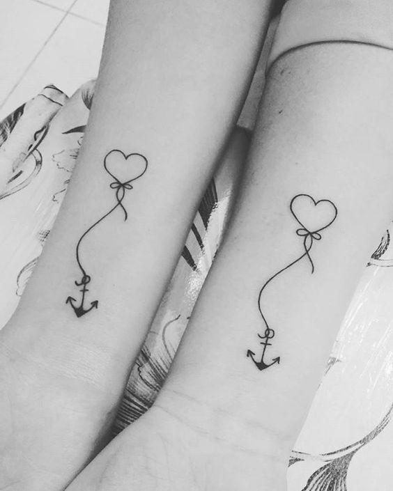 Tattoo anker herz